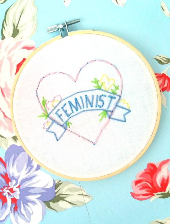 Broderi Feminist i Hjärta