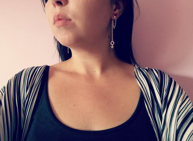 Örhängen med kedja