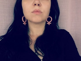 Akrylörhängen Mini Rosa