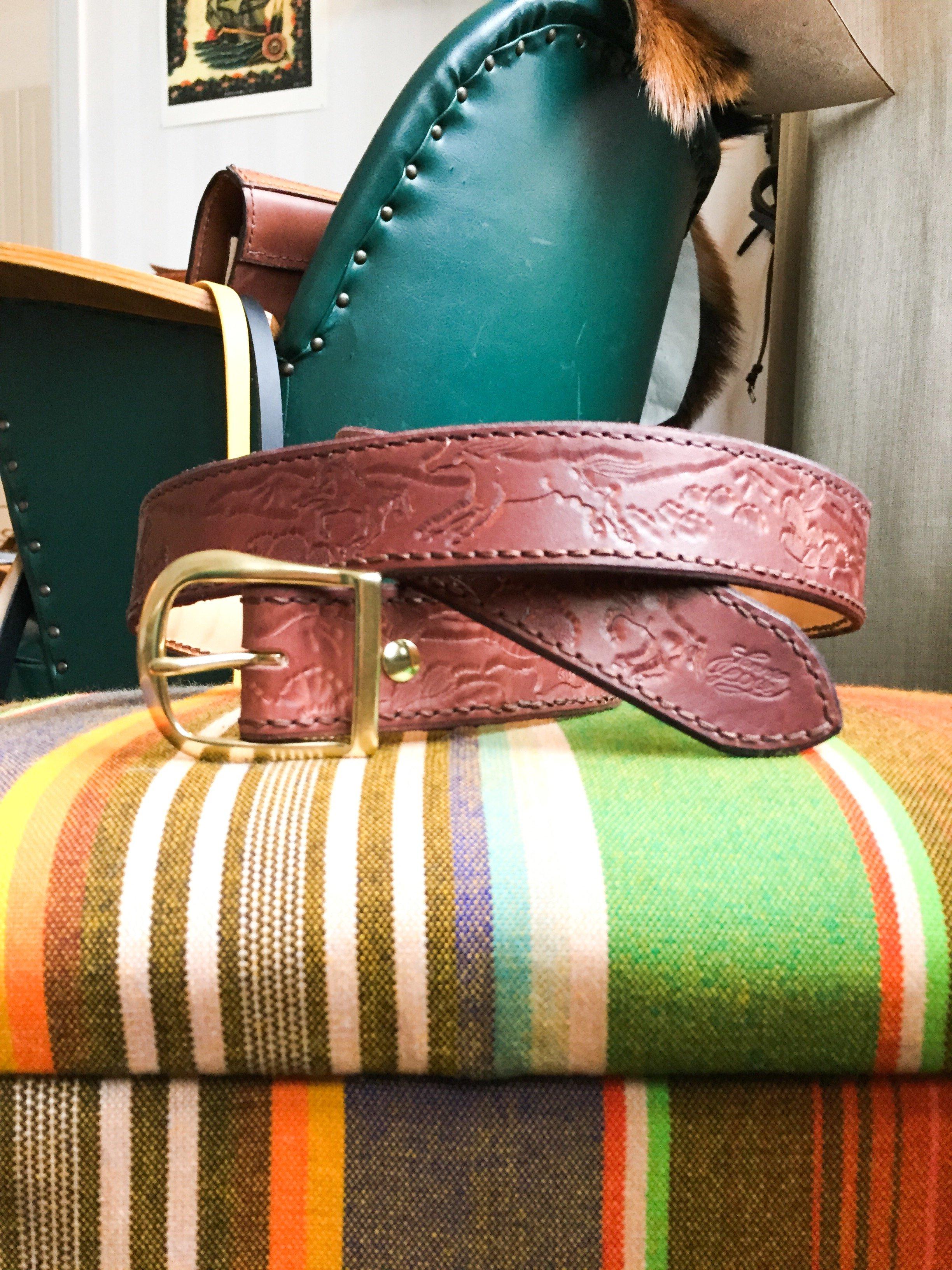 • Leather Belt Cactus •
