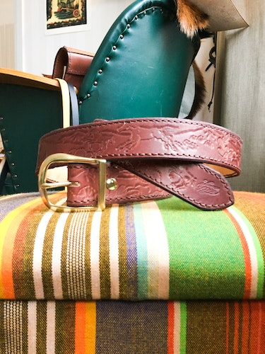 • Leather Belt Cactus •