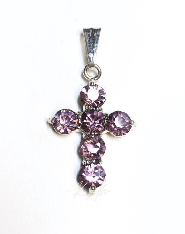 Strass kors smycke