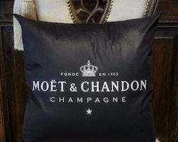 Champagne kuddfodral svart