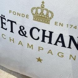 Champagne kuddfodral vit