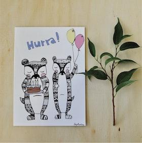 Hurra!  // Grattiskort
