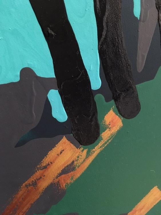 Gotlandsfår är inspirationen till denna tavla. Unna dig ett original på väggen. Får målat som leopard.