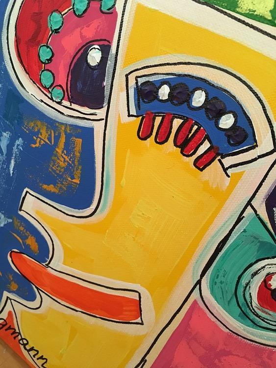 Färgglada tavlor att pryda din vägg med av C.Brüggmann. Målning med mycket känslor...vad ser du?