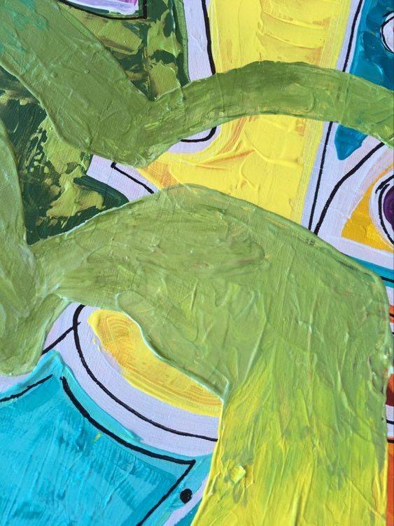 Snygga ,färgglada tavlor av C.Brüggmann. I detta fall en hjärttavla i många härliga färger.