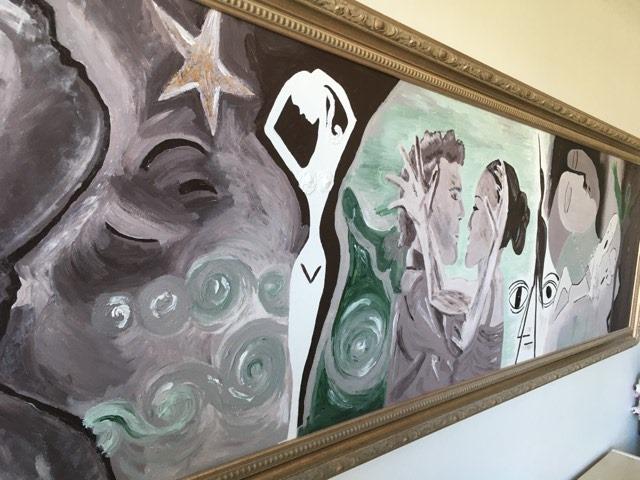 Exklusiv svensk konst av C.Brüggmann bördig från Helsingborg. Detta är ett praktexemplar av hennes stora tavlor.