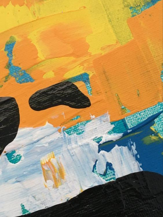 Snygga tavlor köper du på cbruggmann.se . Här en närbild på en originalmålning. Unna dig ett original på väggen.