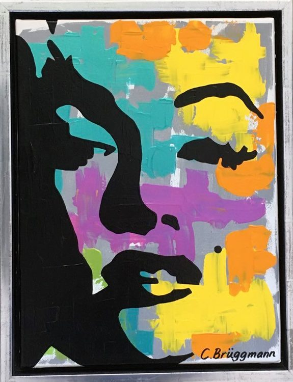 Tavlor på Marilyn Monroe finns att köpa av konstnär C.Brüggmann på cbruggmann.se. Färgglada tavlor.