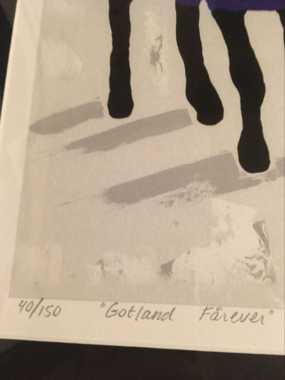 Numrerad och signerad konst av C.Brüggmann som kan köpas via cbruggmann.se. Titel; Gotland Fårever.