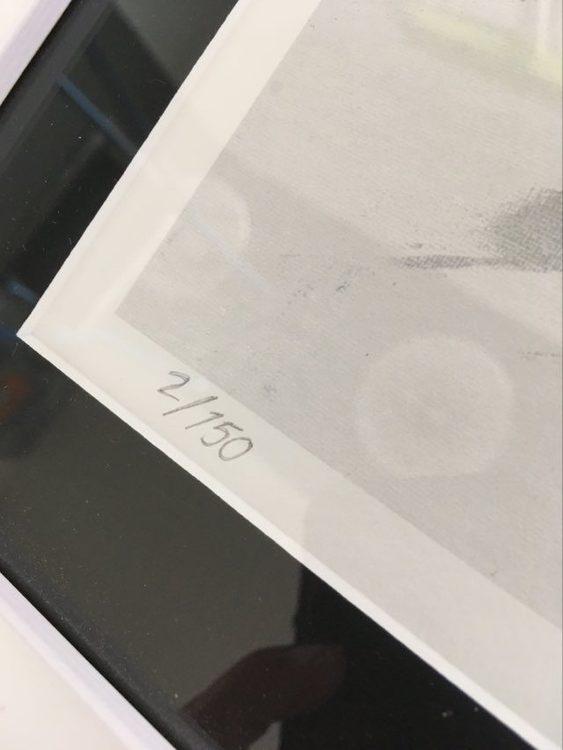 Numrerat och signerat konsttryck av C.Brüggmann, den svenska nutidskonstnären från Helsingborg. Svensk konst.