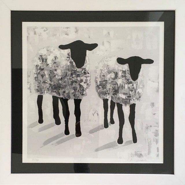 Fårkonst av fårkonstnär C.Brüggmann. Snygga tavlor till ditt hem kan köpas på cbruggmann.se