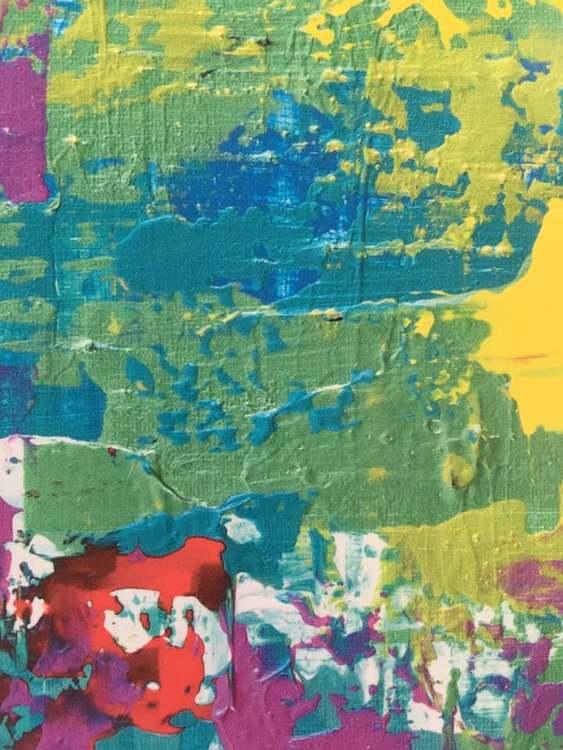 Inred med färgglad konst. Tavla 50x70 cm till ditt hem och kanske tavelväggen. Popkonstnären C.Brüggmann.