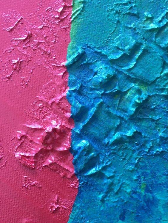 Färgsprakande konst att förgylla ditt hus med. Stilren och galen kärlekstavla av C.Brüggmann.