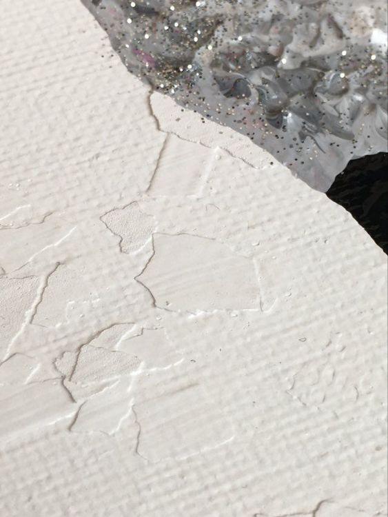 Glittertavla. Får med glitter på i denna tavla som du kan förnya ditt hem med. Unna dig ett original på väggen!