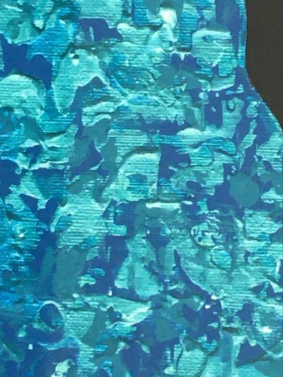 Konstnär från Helsingborg målar färgglada får. Onlineshopping till ditt hem. Tavla 40x40 cm.