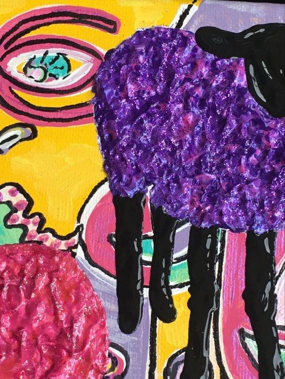Tavlor med mycket färg och glada färger med djur målar Helsingborgskonstnärinnan C.Brüggmann.