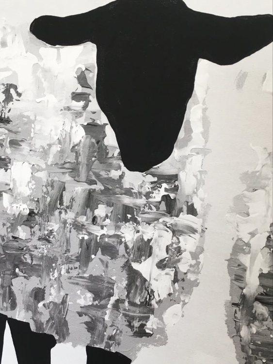 """Detta tryck härstammar från Brüggmanns originalmålning """"Gotland Fårever"""". Stilrena tavlor."""