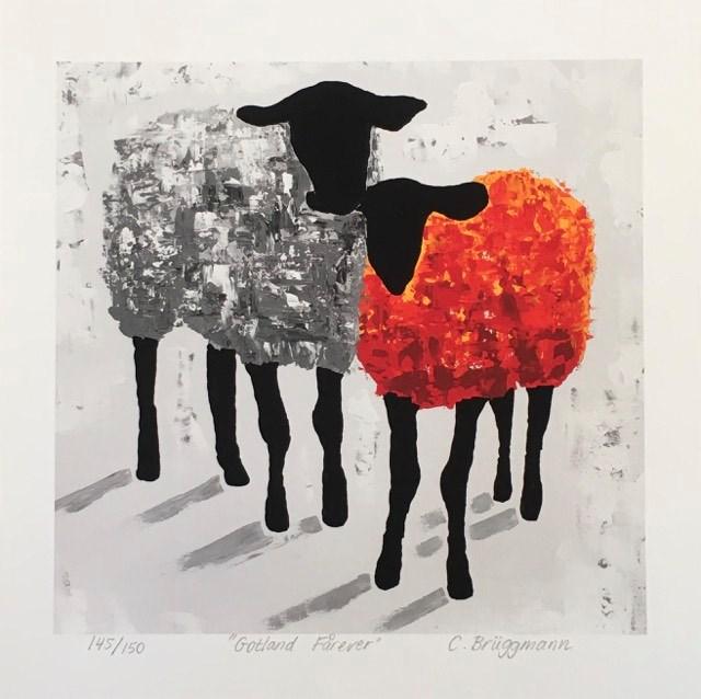 Fårsaker såsom tavlor med får, fårmuggar, fårbrickor mm. finns att köpa på cbruggmann.se