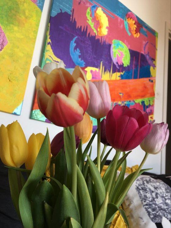 Inred ditt hem med glad konst och vackra färger. Köp ditt konstverk på cbruggmann.se