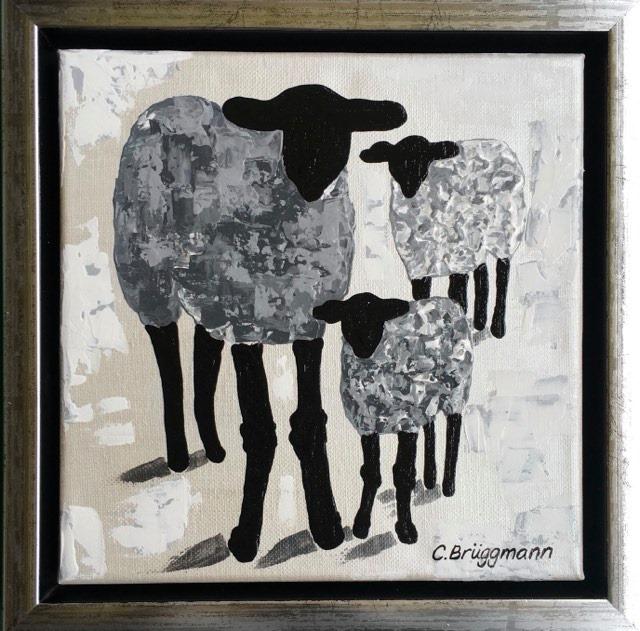 Gotlandsmotiv eller fårmotiv om man så vill kalla det. C.Brüggmann målar fårtavlor och tillverkar även en massa andra fårsaker.