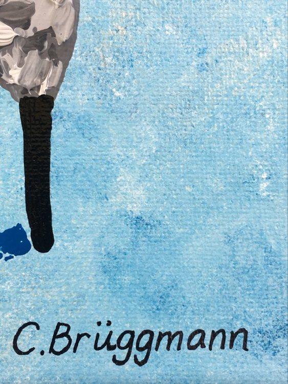 Fårkonstnären kallas C.Brüggmann i folkmun. Hon målar och designar fårsaker med sitt eget fårmotiv.