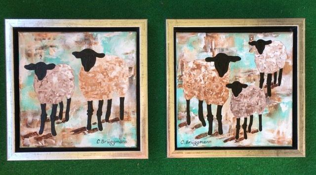 Inred ditt hem med konst och originalkonst av kvinnlig konstnär. Snygga , stilrena tavlor.