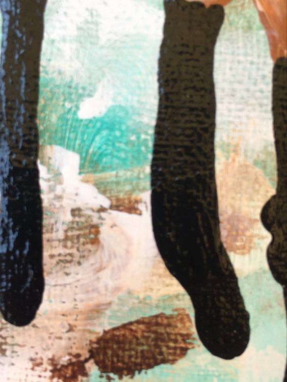Tavla med fina varma harmoniska färger. Originalmålning av svensk nutidskonstnär.