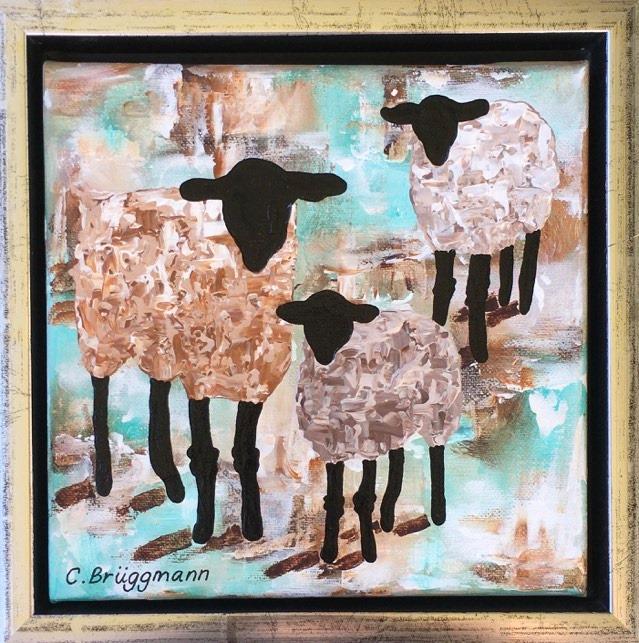 Läckra, coola, stilrena tavlor med djur. Djurtema eller rättare skrivet Fårtema av Sveriges fårkonstnär C.Brüggmann.