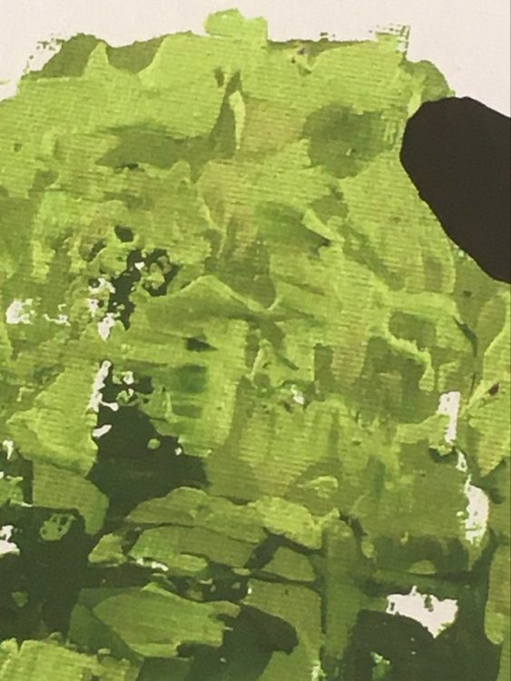 Konstonline på cbruggmann.se. Gröna härliga färger i denna tavla. Fårtavlor av C.Brüggmann.