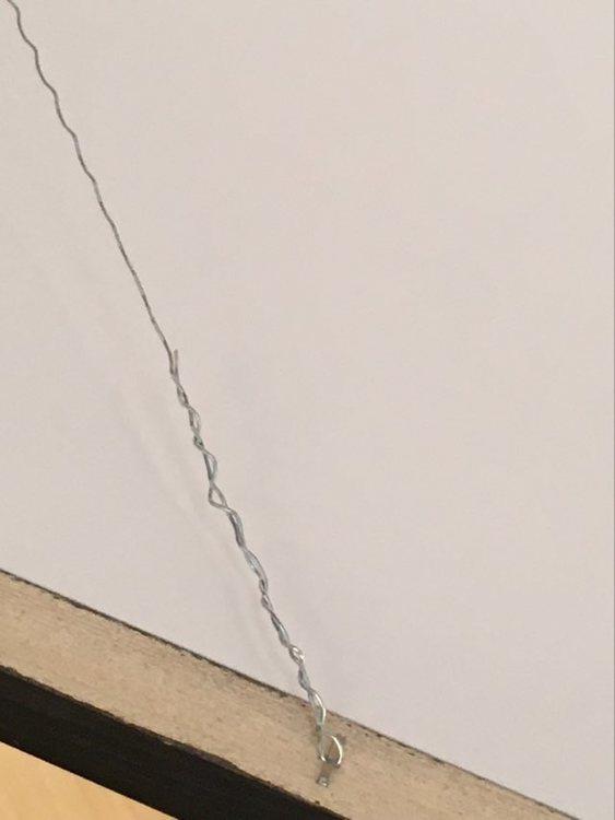 Upphängningsanordning finns alltid på baksidan av konstnärinnan C.Brüggmanns tavlor.
