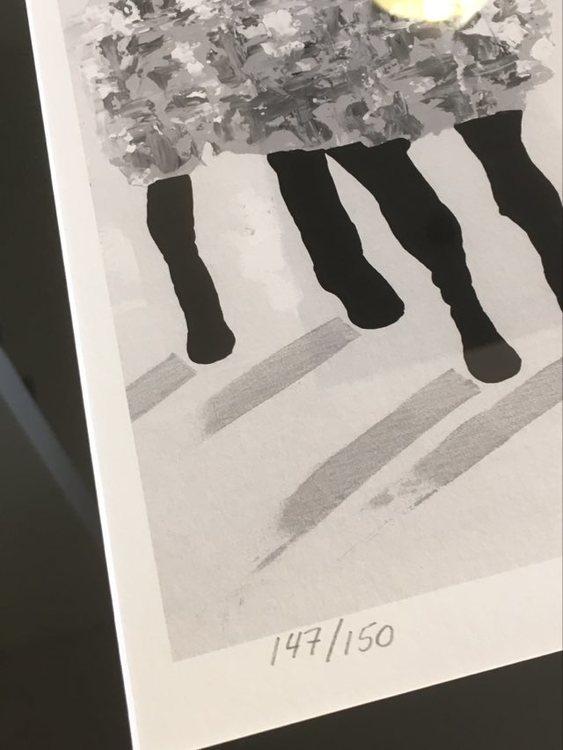 Tavlor med Gotlandsmotiv inspirerade av gotlandsfår gjorda av C.Brüggmann.