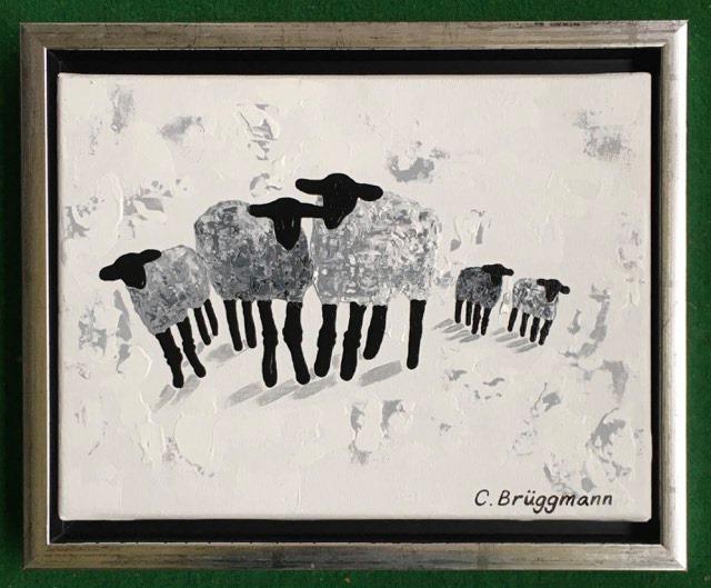 Stilren svensk svart-vit-grå konst! Inred med svart-vitt. Tavlor till vardagsrummet eller sovrummet.