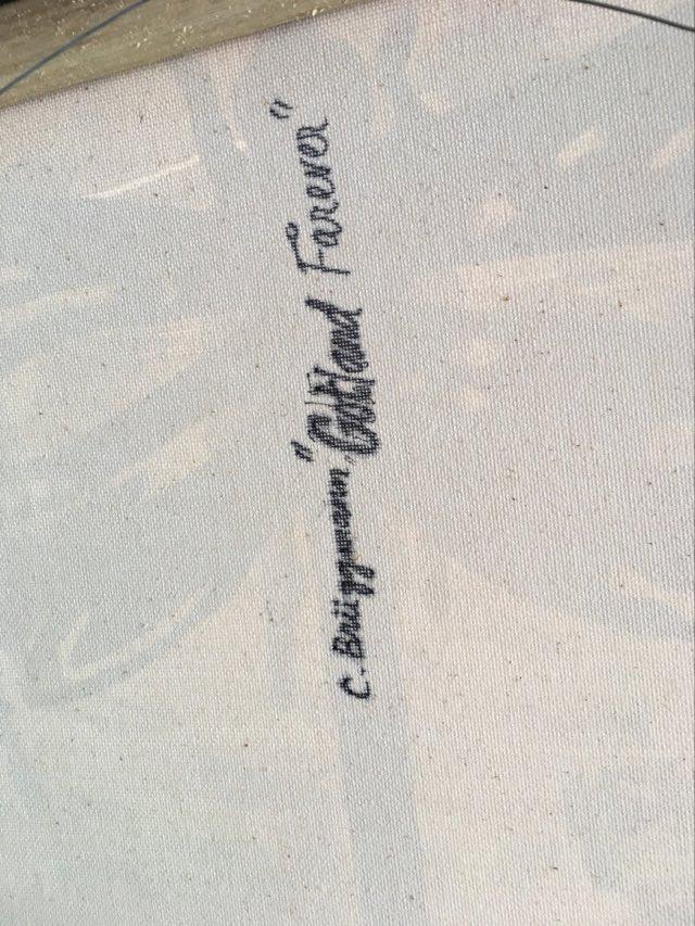 Originalmålningarna är alltid signerade både på bak- samt framsidan av C.Brüggmann. Äkta målningar.
