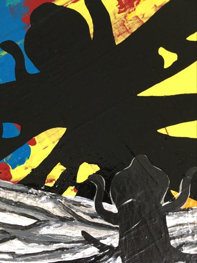 Djurmotiv och i detta fall Trollsländemotiv i denna originalmålningen. Trollsländor tolkade av konstnär C.Brüggmann.