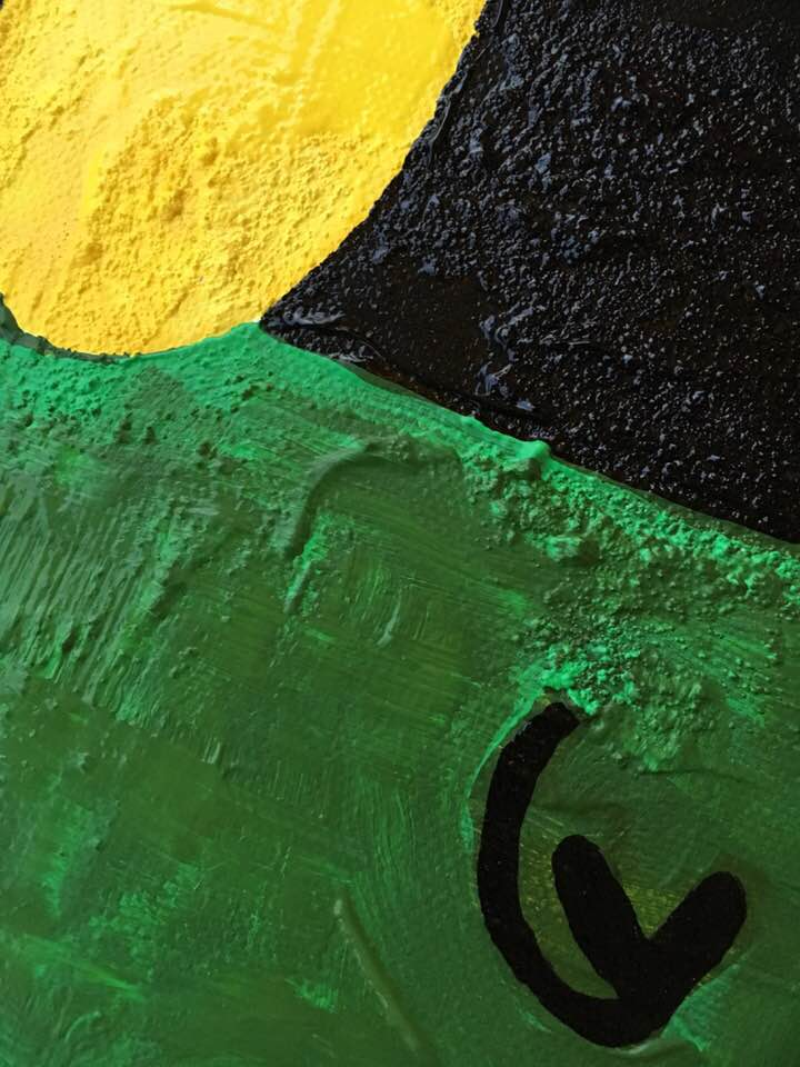 """Närbild. Originalmålning av C.Brüggmann. """"Ohämmad njutning"""". Unna dig ett original på väggen. Onlinekonst. Konst online. Tavla av cbruggmann.se. Catharina Brüggmann sätter färg på din vägg och inredni"""