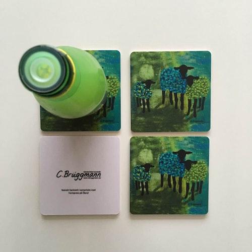 Glasunderlägg, Grön