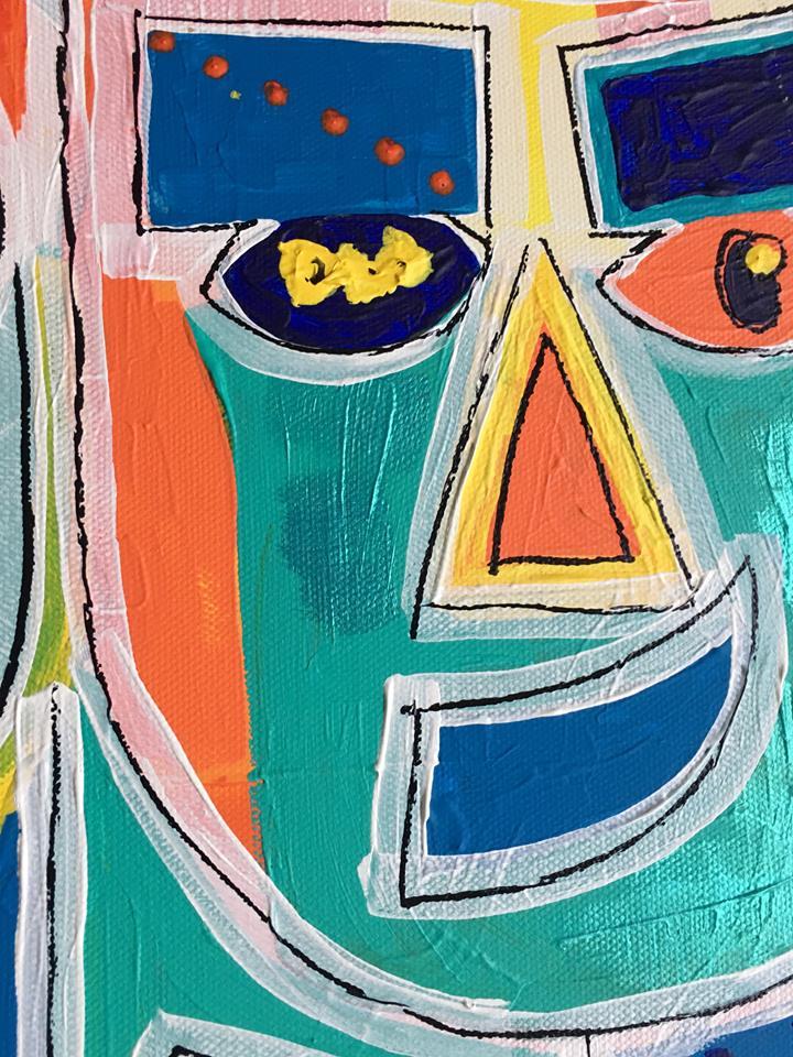 Massa färg i dessa färgglada snygga tavlorna av C.Brüggmann. Svensk nutidskonstnär med konst att inreda ditt hem med.