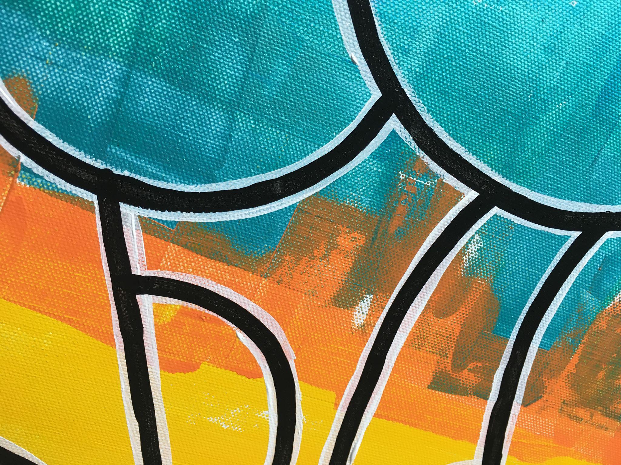 Närbild av målning gjord av Helsingborgskonstnärinnan C.Brüggmann. Vacker konst att pryda ditt hem med.