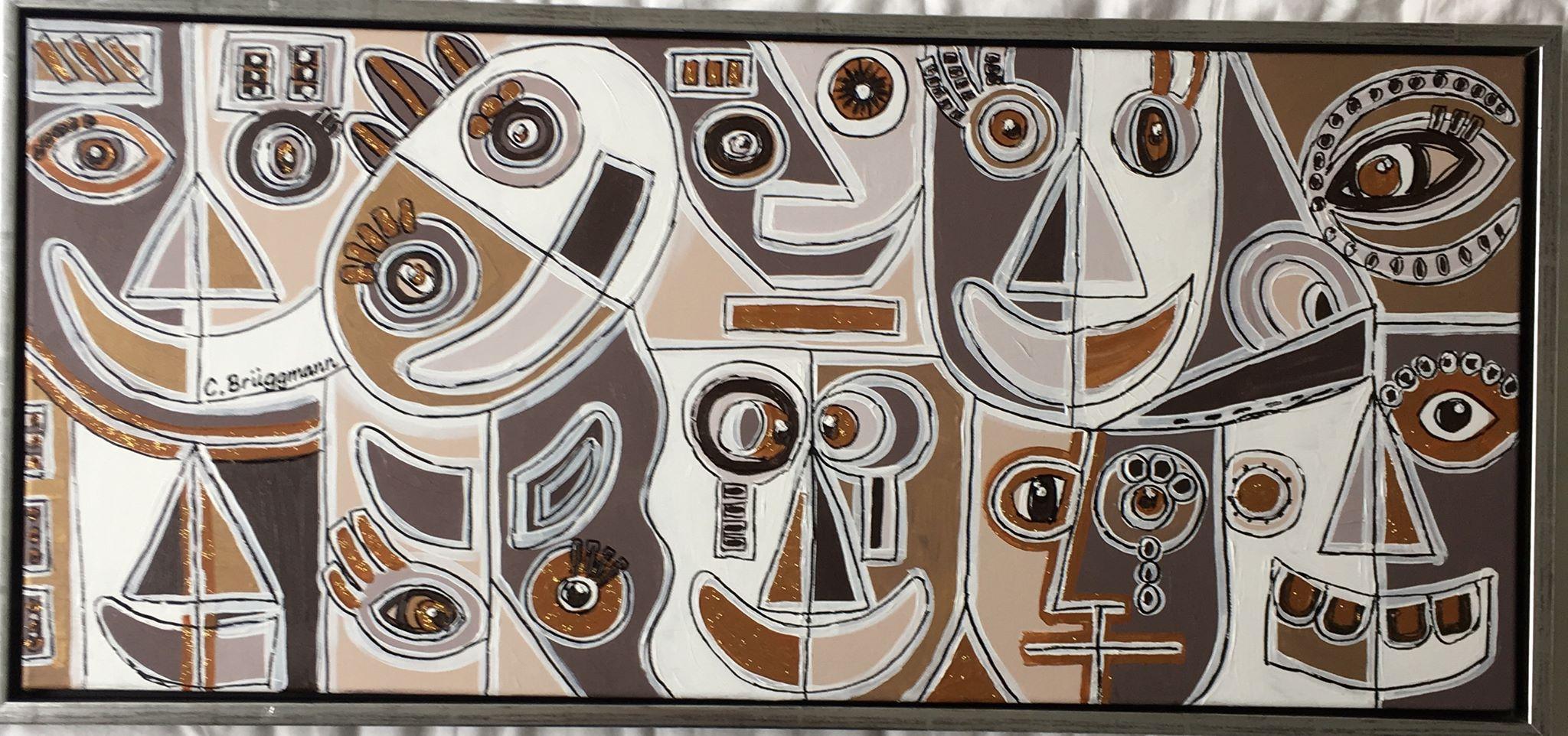 Massa känslor i konsten. Jag målar känslor säger C.Brüggmann, konstnärinna från Helsingborg.