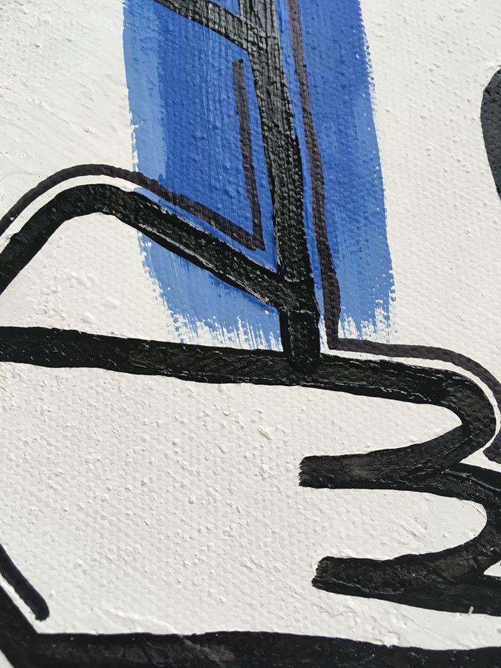Färgglad tavla till ditt hem. Färgglada tavlor av konstnär C.Brüggmann, Helsingborg. Konstnär tidvis boende på Gotland.