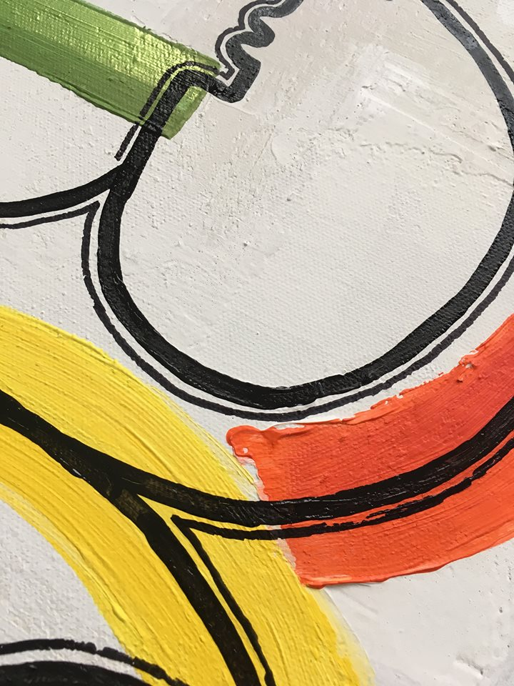 Inred ditt hem med konst av C.Brüggmann. Tavlor som finns i Helsingborg, Skåne. Tavla med många färger.
