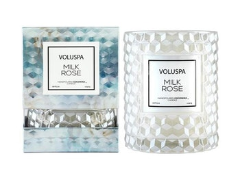 Voluspa - Milkrose - BOXED ICON CANDLE W. CLOCHE