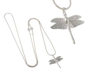 Ioaku- Dragonfly Mini Necklace - Silver