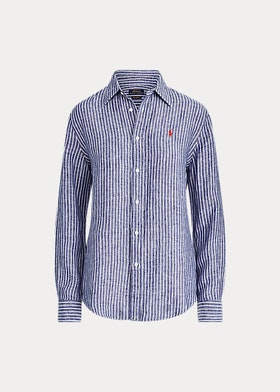 Ralph Lauren- Relaxed Fit Linen Shirt- Blå