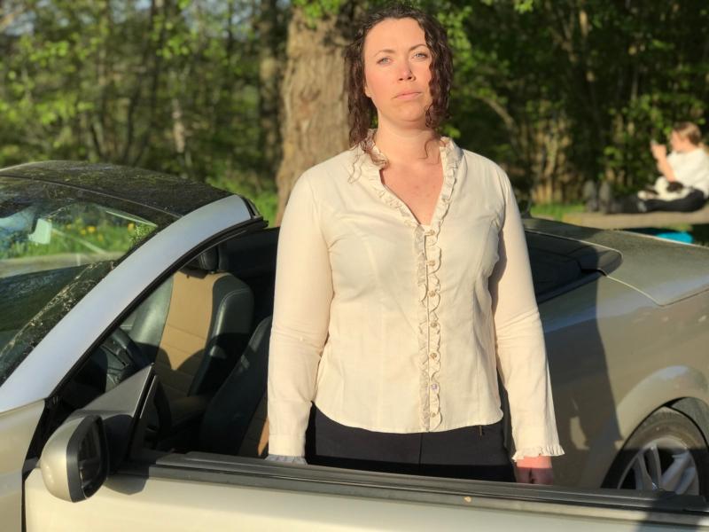 Skjortan Lena i naturlig bomullsfärg