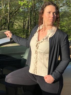 Karin marinblå + skjortan Lena