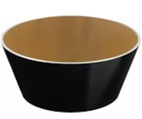 Kosta Linnewäfveri Alumine Skål svart/brons